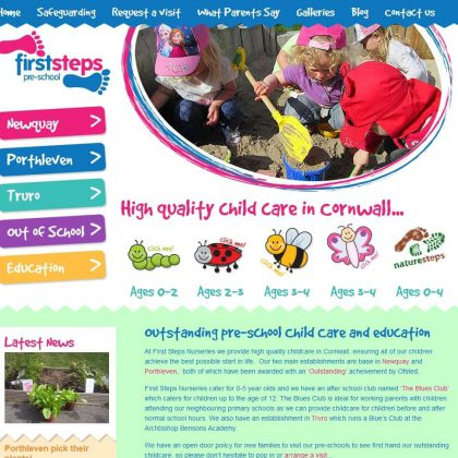 first steps cornwall website home 420x420 - First Steps Cornwall