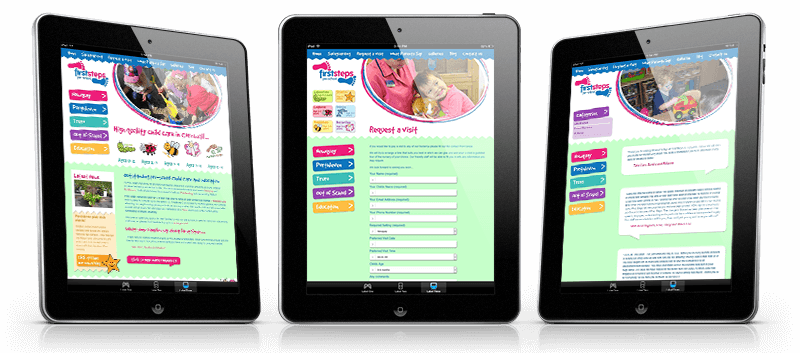 first steps cornwall website ipads - First Steps Cornwall