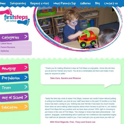 first steps cornwall website testimonials 420x420 - First Steps Cornwall