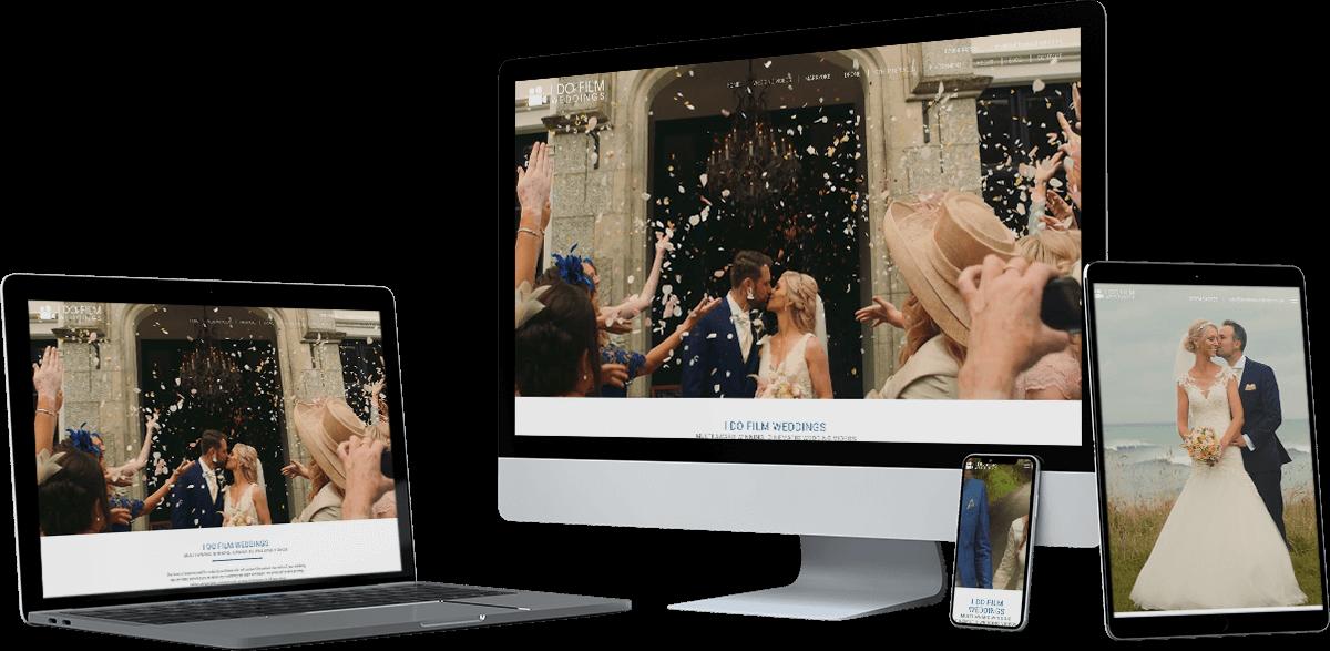 i do film weddings website screens - I Do Film Weddings
