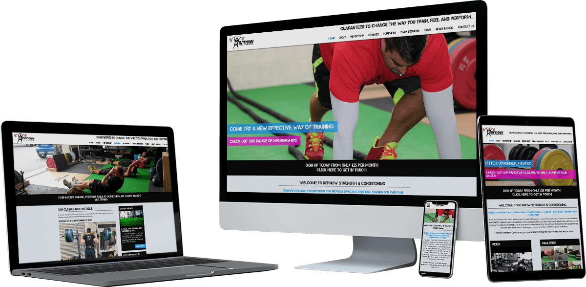 kernow strength conditioning website screens - Kernow Strength
