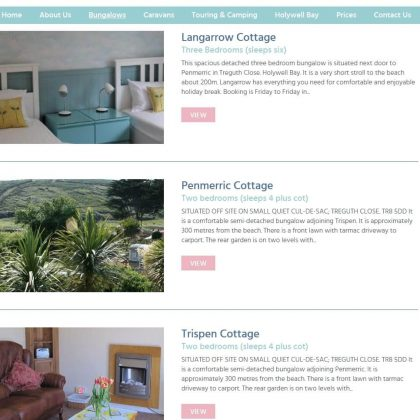 holywell holiday park website bungalows 420x420 - Holywell Holiday Park