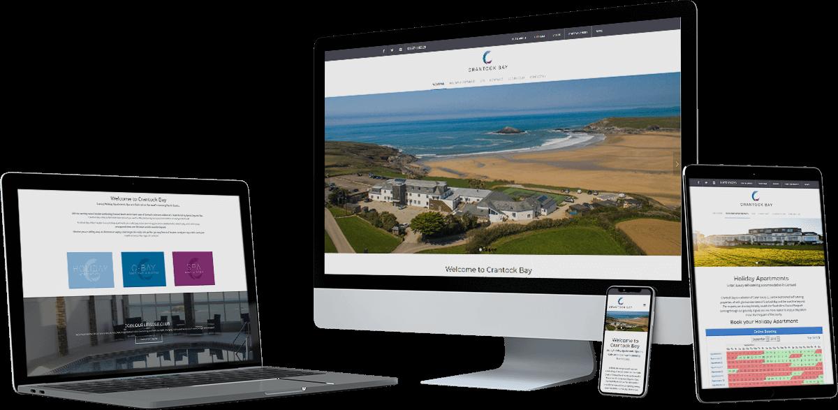 crantock bay website screens - Crantock Bay