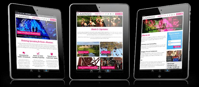 flamingo marketing website ipads - Flamingo Marketing