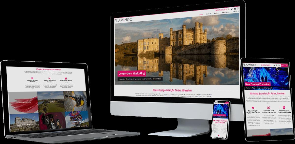 flamingo marketing website screens - Flamingo Marketing